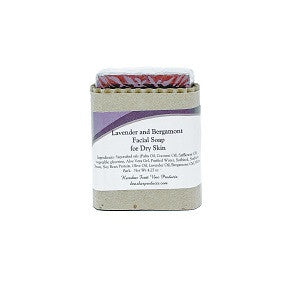 Lavender and Bergamont Facial Soap, Dry Skin