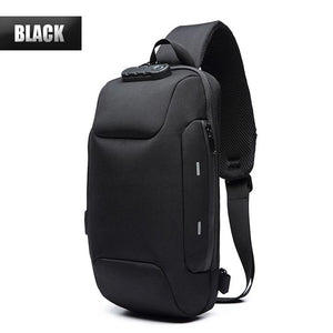 Anti-theft Backpack Waterproof With 3-Digit Lock Safty Night Reflective