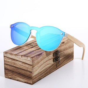 2020 Cat Eye Wood Bamboo Sunglasses