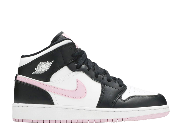 AIR JORDAN 1 MID GS 'WHITE LIGHT ARCTIC PINK'