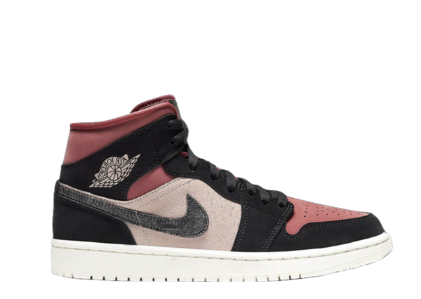 AIR JORDAN 1 MID 'BURGUNDY DUSTY PINK' WMNS