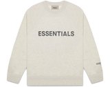 FEAR OF GOD 'ESSENTIALS' 3D SILICON APPLIQUE CREWNECK OATMEAL HEATHER