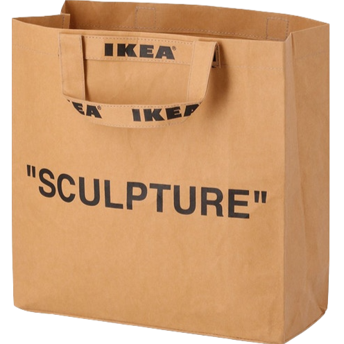 OFF-WHITE X IKEA 'MARKERAD' MEDIUM BROWN BAG
