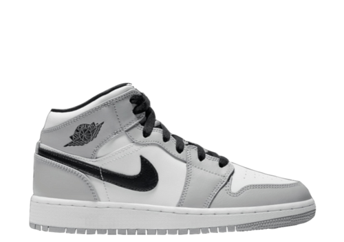 AIR JORDAN 1 MID 'LIGHT SMOKE GREY' GS
