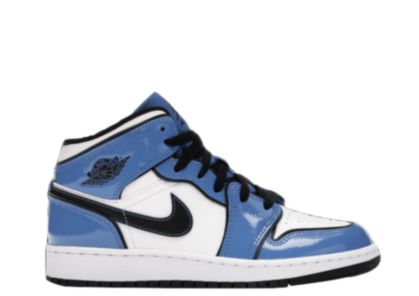 AIR JORDAN 1 MID 'SIGNAL BLUE' GS