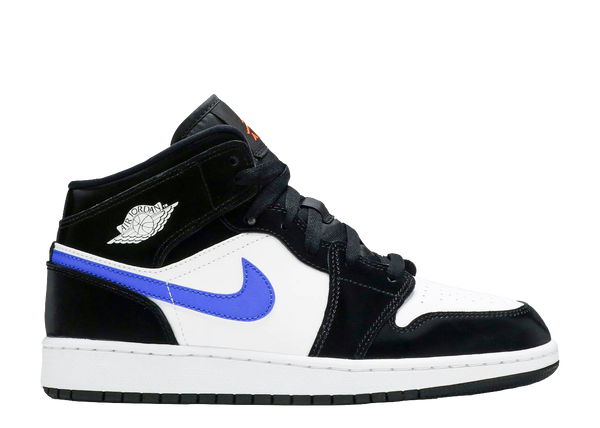 AIR JORDAN 1 MID GS 'BLACK RACER BLUE'