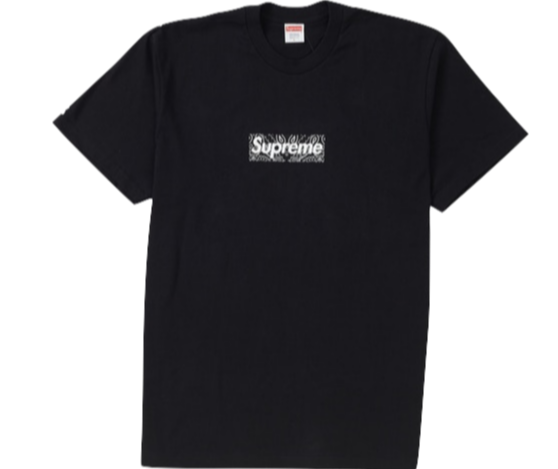 SUPREME BANDANA BOX LOGO 'T-SHIRT' BLACK