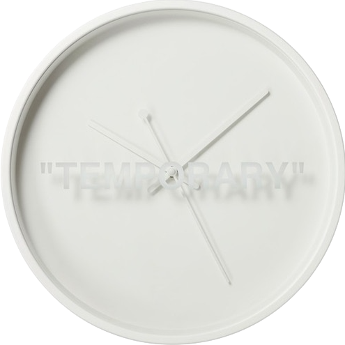 OFF-WHITE X IKEA 'TEMPORARY' CLOCK
