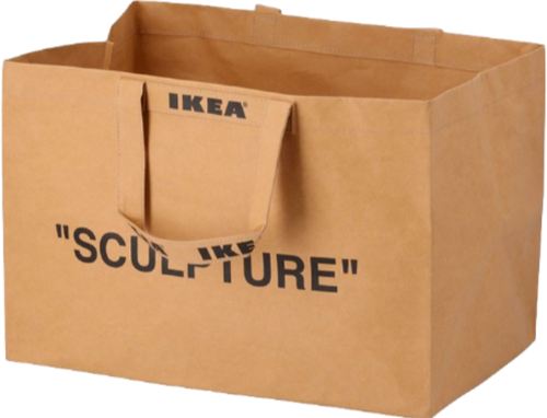 OFF-WHITE X IKEA 'MARKERAD' LARGE BROWN BAG