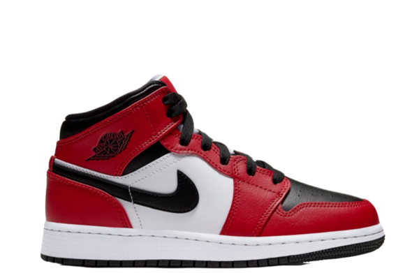 AIR JORDAN 1 MID 'CHICAGO BLACK TOE' GS