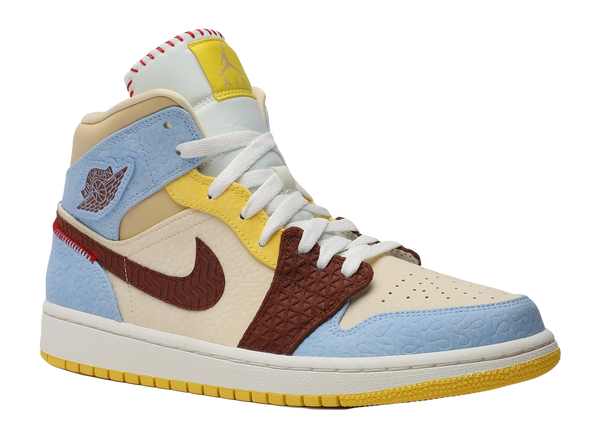 "AIR JORDAN 1 MID FEARLESS ""MAISON CHATEAU ROUGE"""