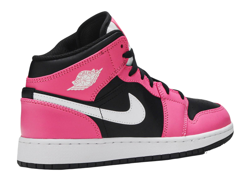 AIR JORDAN 1 MID GS 'BLACK PINK'