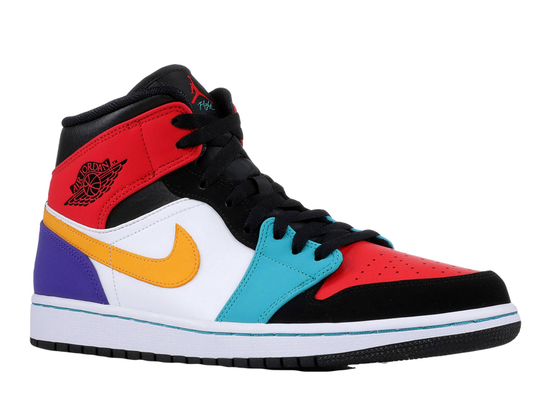 AIR JORDAN 1 MID 'MULTI-COLOR'