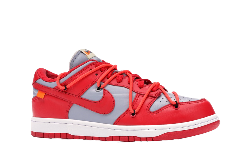 NIKE X OFF-WHITE 'DUNK LOW LTHR/OW' UNIVERSITY RED