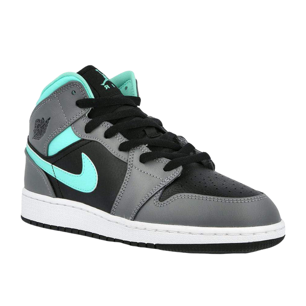 AIR JORDAN 1 MID GS 'GREY AQUA'