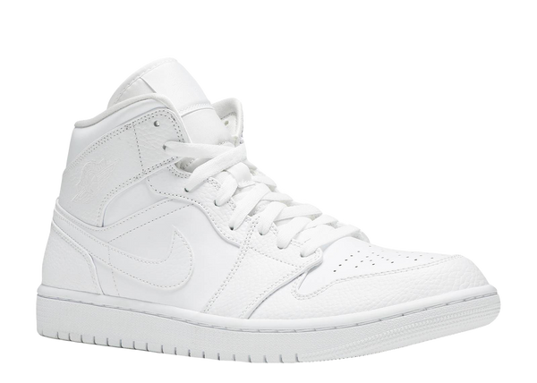 AIR JORDAN 1 MID 'TRIPLE WHITE'
