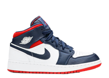 Load image into Gallery viewer, AIR JORDAN 1 MID GS 'USA OLYMPIC'