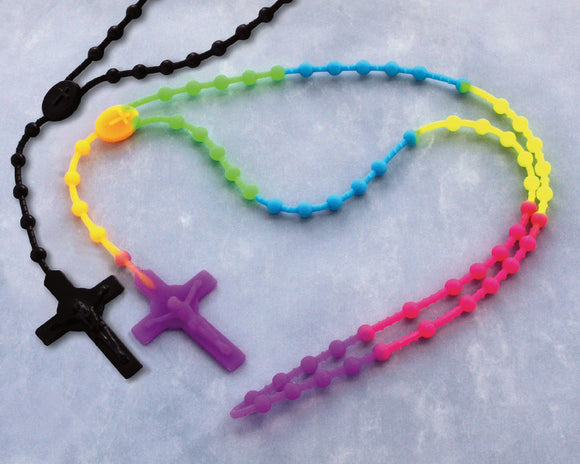 SILICONE ROSARY MULTICOLORED