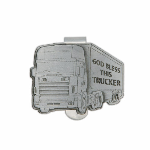 GOD BLESS THIS TRUCKER VISOR CLIP
