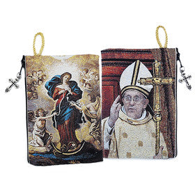 MARY UNDOER of KNOTS / POPE FRANCIS ROSARY CASE
