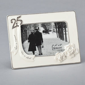 25TH ANNIVERSARY FRAME 4X6""