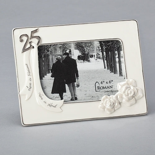 25TH ANNIVERSARY FRAME 4X6
