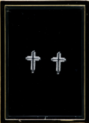 14KT WHITE GOLD CROSS EARRINGS