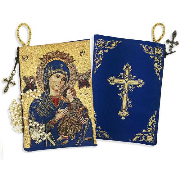 OLO PERPETUAL HELP/CROSS ROSARY POUCH