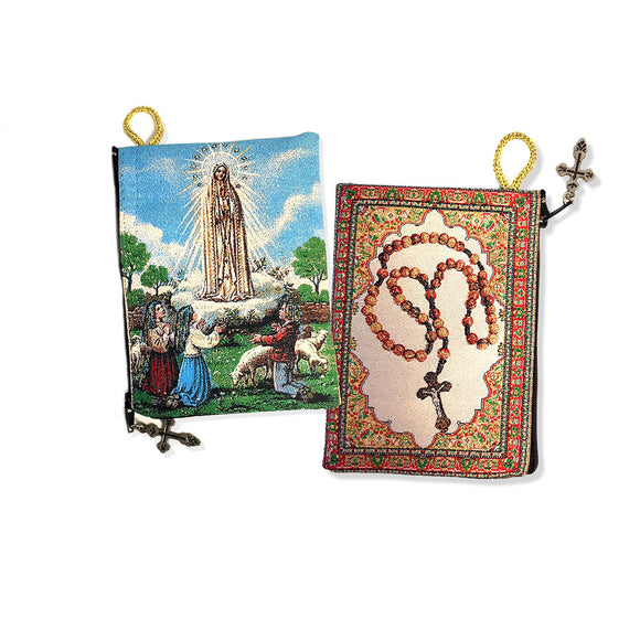 OLO FATIMA with CHILDREN / ROSARY Rosary Pouch