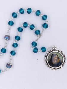 O.L. OF SORROW CHAPLET with PRAYER CARD