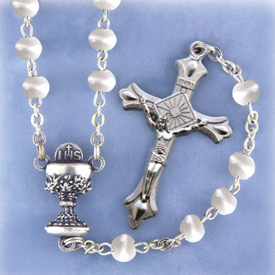 1ST COMMUNION ROSARY - WHITE