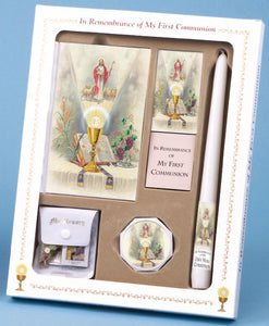 FIRST COMMUNION SET FIRST MASS BOOK (Come My Jesus edition) DELUXE SET - GIRL