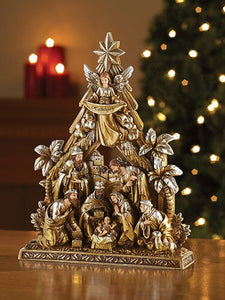 "10"" METALLIC NATIVITY FIGURE"