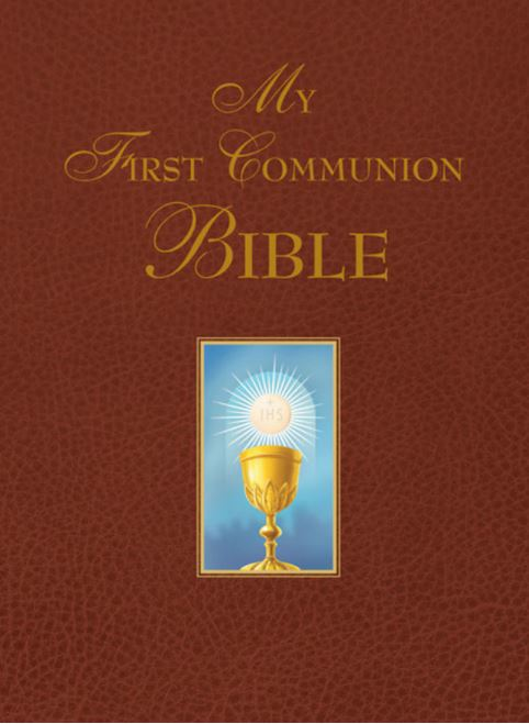 MY FIRST COMMUNION BIBLE - BURGANDY
