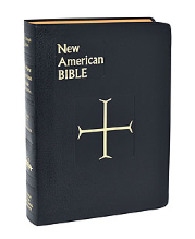 BLACK NEW AMERICAN BIBLE-Large Print