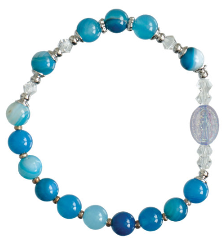 BLUE CHILD ROSARY BRACELET
