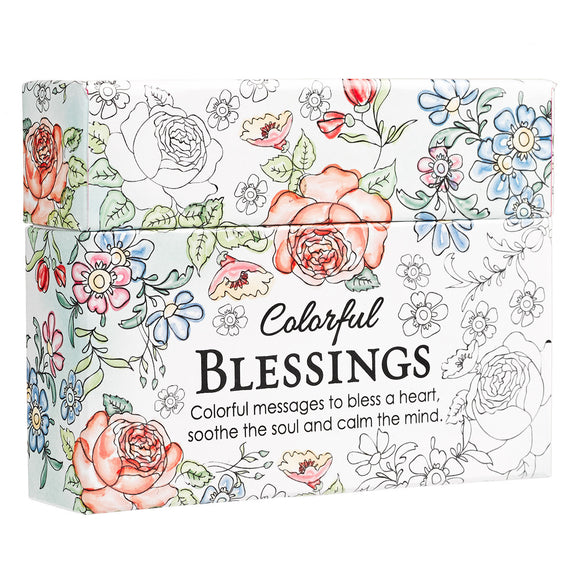 COLORFUL BLESSINGS CARDS - ADULT COLORING