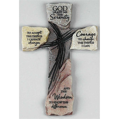 SERENITY PRAYER WALL CROSS