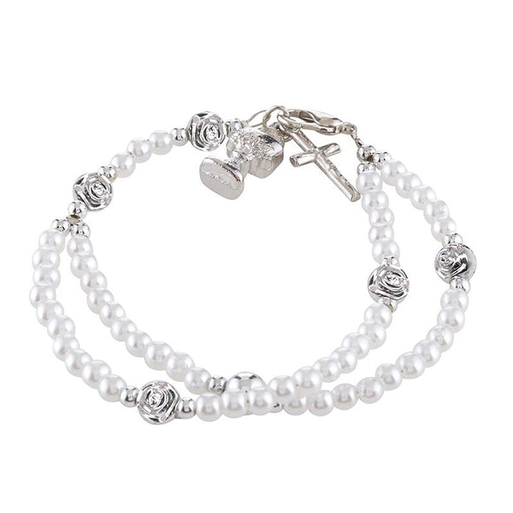 WHITE FIRST COMMUNION CHILD BRACELET