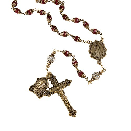VINTAGE DIVINE MERCY ROSARY - online customers only!