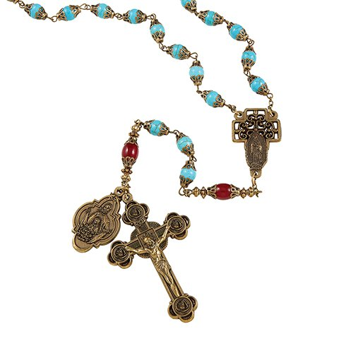 VINTAGE OUR LADY OF GUADALUPE ROSARY - online customers only!