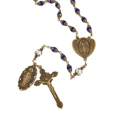 VINTAGE MIRACULOUS ROSARY - online customers only!