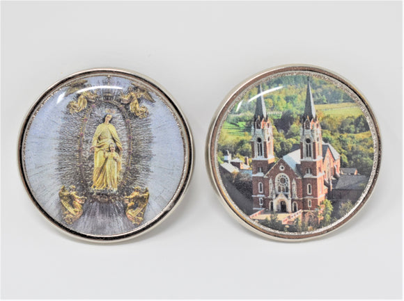 HOLY HILL 2 SIDED PHOTO POCKET COIN