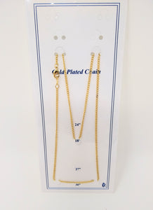 "18"" GOLD PLATED CHAIN"