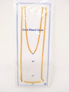 "24"" GOLD PLATED CHAIN"