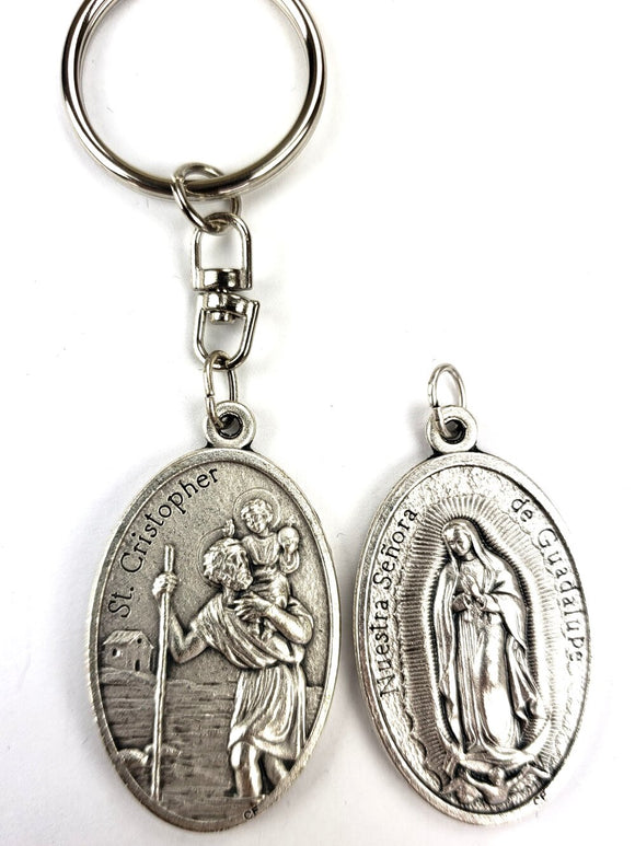 ST CHRISTOPHER / OLO GUADALUPE KEY CHAIN