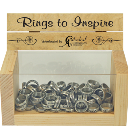 ASSORTED RINGS WITH INSPIRATIONAL WORDS
