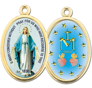 MIRACULOUS MEDAL 2 SIDED COLOR MEDAL