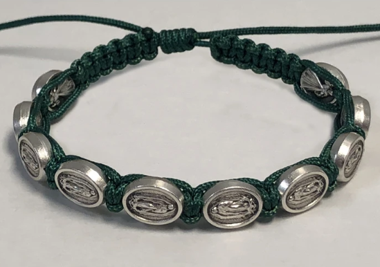 OLO GUADALUPE GREEN CORD BRACELET