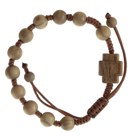 OLIVE WOOD ADJUSTABLE BRACELET